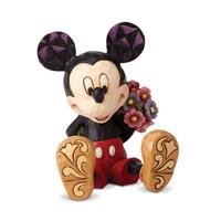 Jim Shore Disney Traditions Mini Figurine - Mickey Mouse with Flowers