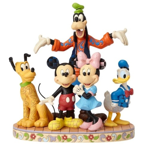 Jim Shore Disney Traditions - The Fab Five The Gang's All Here Figurine