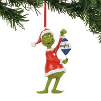 Dr Seuss The Grinch by Dept 56 - Grinch Naughty or Nice Hanging Ornament