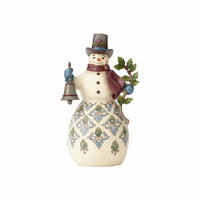 Heartwood Creek Victorian - Snowman With Bell - Bright & Merry