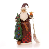 Folklore by Jim Shore - Santa with Tree and Star