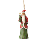 Folklore By Jim Shore - Santa With Tree Hanging Ornament