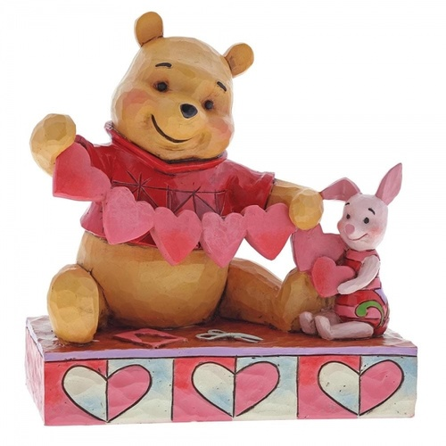 Jim Shore Disney Traditions - Pooh & Piglet Valentines Figurine