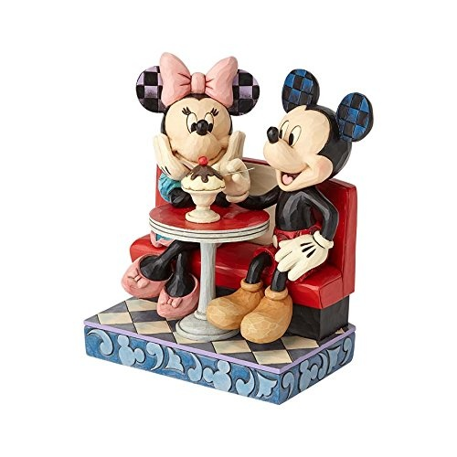 Jim Shore Disney Traditions - Mickey and Minnie Mouse In Soda Shop Figurine