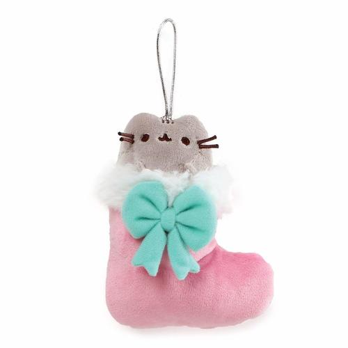 Pusheen Christmas Hanging Ornament - Pusheen in Stocking