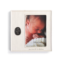 Demdaco Baby - Jesus Loves Us Medallion Photo Frame