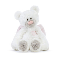 Demdaco Baby - Guardian Angel Bear Rattle Plush Pink