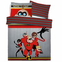 Disney The Incredibles Quilt Cover Set - Double - Saving The Day