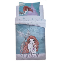Disney The Little Mermaid Quilt Cover Set - Single - Ariel Believe