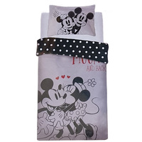 Disney Minnie & Mickey Mouse Quilt Cover Set - Single - Love You