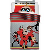 Disney The Incredibles Quilt Cover Set - Single - Saving The Day