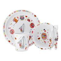 Summer Holidays with Barney Gumnut & Friends 5 Piece Kids Dinner Set