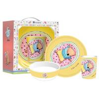 Summer Holidays with Barney Gumnut & Friends 3 Piece Kids Dinner Set - Wombat