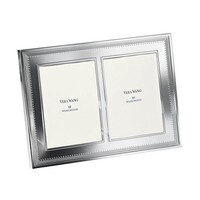 "Wedgwood Vera Wang Grosgrain Double Photo Frame 5""x7"""