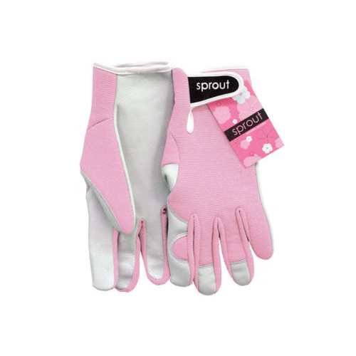 Sprout Goatskin Gardening Gloves - Blush Pink