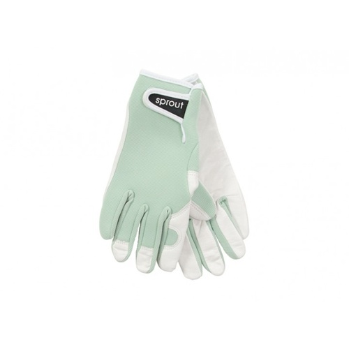 Sprout Goatskin Gardening Gloves - Sage Green