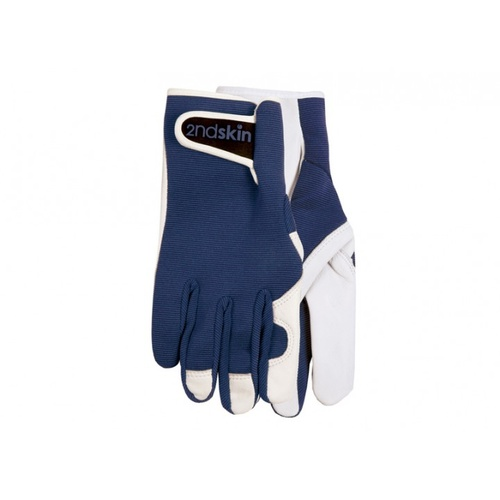 2nd Skin Mens Goatskin Gloves - Navy