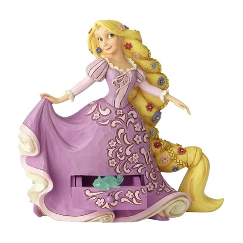 Jim Shore Disney Traditions - Rapunzel with Pascal Charm Figurine