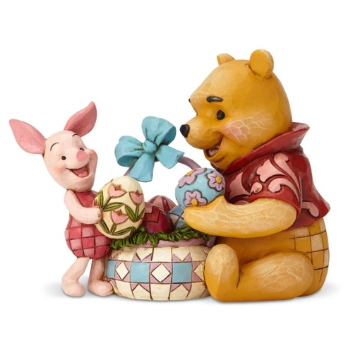Jim Shore Disney Traditions - Pooh and Piglet Easter Spring Surprise Figurine