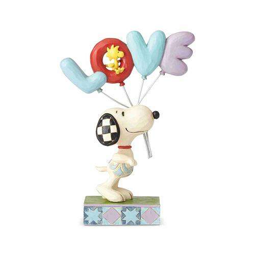 Jim Shore Snoopy with LOVE Balloon - Love is in the Air (Peanuts Collection)
