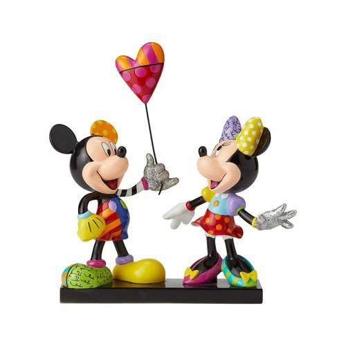 Limited Edition Disney Britto Mickey & Minnie with Balloon Figurine