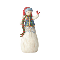 Folklore by Jim Shore - Snowman with Cardinal