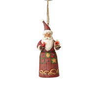 Folklore by Jim Shore - Santa with Birdhouse Hanging Ornament