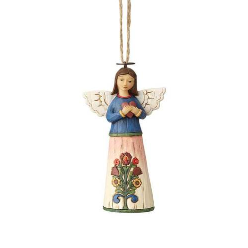 Folklore by Jim Shore - Angel with Heart Hanging Ornament