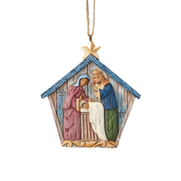 Folklore by Jim Shore - Holy Family Nativity Hanging Ornament