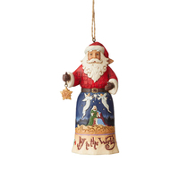 Heartwood Creek Classic - Joy to the World Santa Hanging Ornament