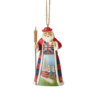 Heartwood Creek Santas Around The World - British Santa Hanging Ornament