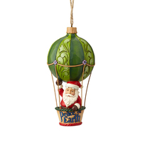 Heartwood Creek Hanging Ornament Collection - Santa in Hot Air Balloon