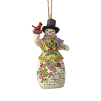 Heartwood Creek Classic - Snowman with Cardinal Hanging Ornament