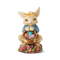 Jim Shore Heartwood Creek - Easter Collection - Spring Fling And Easter Things (Pint Sized Bunny with Basket)