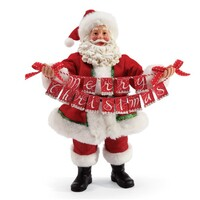 Possible Dreams Clothtique By Dept 56 - Santa Christmas Banner