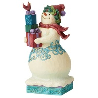 Heartwood Creek Winter Wonderland - Snowman with Gifts
