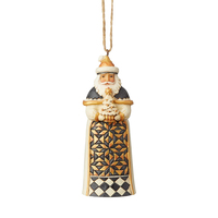 Heartwood Creek Black And Gold - Santa Hanging Ornament