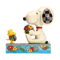 Peanuts By Jim Shore - Snoopy and Woodstock with Flowers - Flowers For Friends