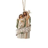 Heartwood Creek White Woodland - Holy Family Dated Hanging Ornament
