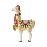 Heartwood Creek Classic - Nativity Pint Sized Llama With Scarf