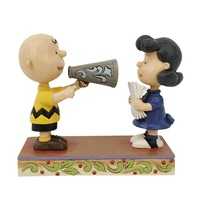 Peanuts by Jim Shore Directors Charlie Brown and Lucy - Places Everyone!
