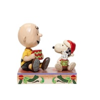 Peanuts by Jim Shore Charlie Brown and Snoopy - Hot Christmas Cocoa