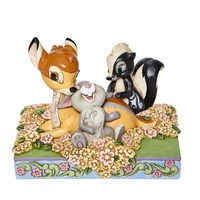 Jim Shore Disney Traditions - Bambi and Friends in Flowers