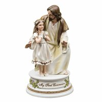 Joseph's Studio My First Communion Musical Figurine - Girl With Jesus