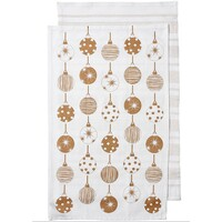 Sparkle Kitchen Towel Baubles 3 Pack - Gold