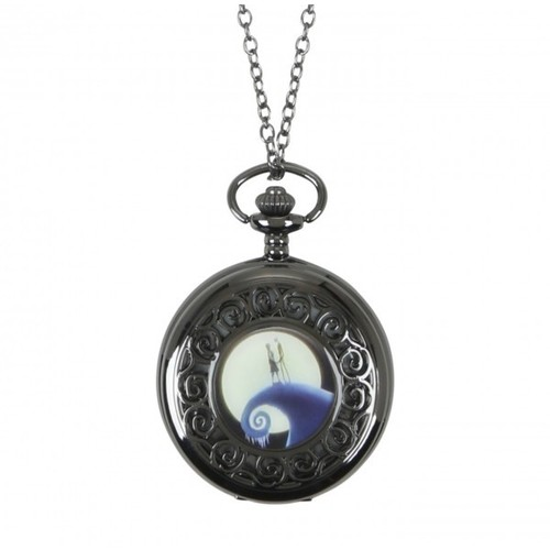 Disney By Neon Tuesday - Nightmare Before Christmas Jack & Sally Pocket Watch Necklace
