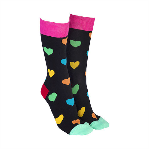 Sock Society - Hearts Green/Pink
