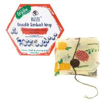 Buzzee Organic Beeswax Reusable Sandwich Wrap - Bees At Work