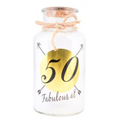 LED JAR - 50th Birthday