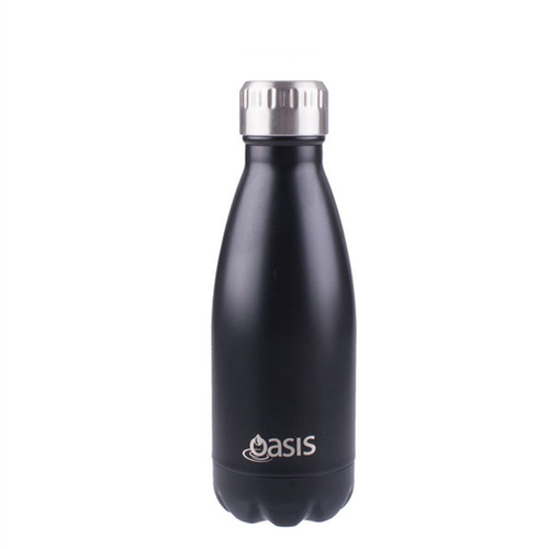 Oasis Insulated Drink Bottle - 350ml Matte Black